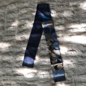 Blue Silk Coach Head Scarf / Headband / Mini-Scarf